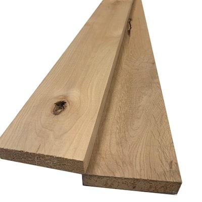 1 in. x 4 in. x 8 ft. Knotty Alder S4S Board (2-Pack)