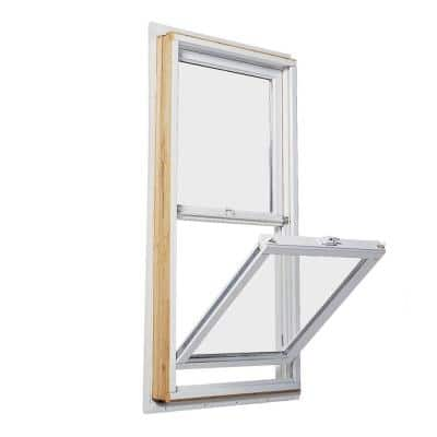35.5 in. x 56.5 in. 200 Series Double Hung Wood Window with White Exterior