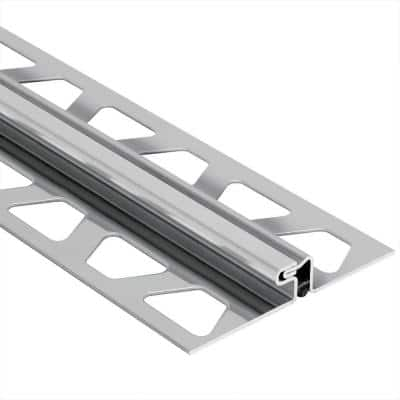 Dilex-EDP Stainless Steel 11/32 in. x 8 ft. 2-1/2 in. Metal Movement Joint Tile Edging Trim