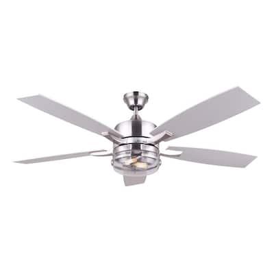 Renda 52 in. Brushed Nickel Ceiling Fan with Light Kit