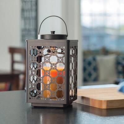 11.25 in Oil Rubbed Bronze Garden Candle Warmer Lantern