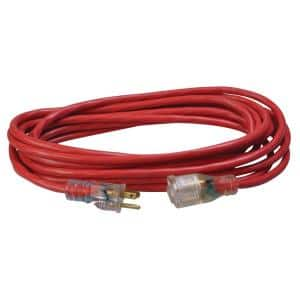 25 ft. 14/3 SJTW Heavy-Duty 15 Amp General Purpose Extension Cord with Lighted End