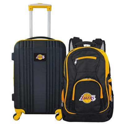 NBA LA Lakers 2-Piece Set Luggage and Backpack