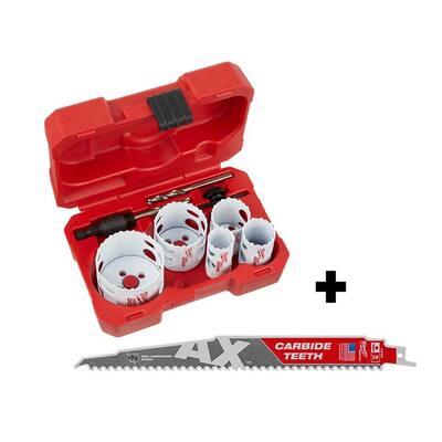 Hole Dozer General Purpose Bi-Metal Hole Saw Set (9-Piece) w/9 in. 5 TPI AX Carbide Teeth Reciprocating Saw Blade
