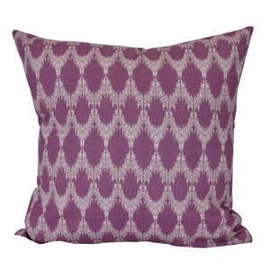 Peace Purple Geometric 16 in. x 16 in. Throw Pillow
