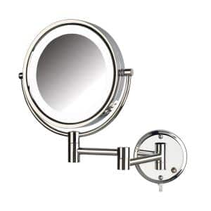 10.5 in. x 14.5 in. LED Lighted Wall Makeup Mirror