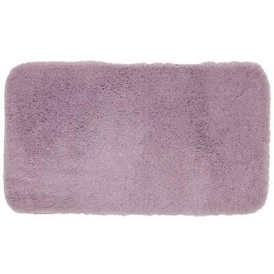 Pure Perfection Lavender 17 in. x 24 in. Nylon Machine Washable Bath Mat