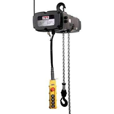 TS Series 5-Ton 10 ft. 2-Speed Electric Chain Hoist 3-Phase Lift