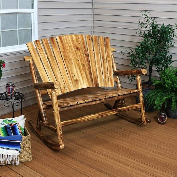 Sunnydaze Decor Rustic Fir Wood Log, Cabin Outdoor Furniture