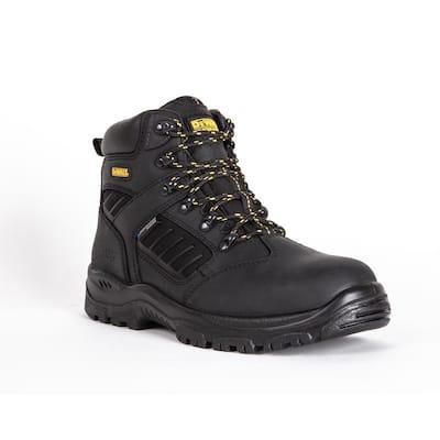 Men's Sharpsburg Waterproof 6'' Work Boots - Steel Toe - Black Full Grain Size 9.5(W)
