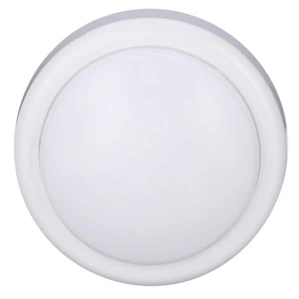 GE - 1-Light White Battery Operated Round Mini Tap Light