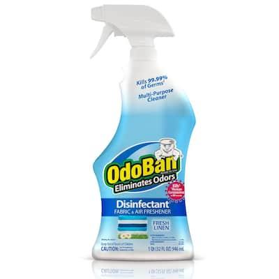 32 oz. Fresh Linen Disinfectant Spray, Odor Eliminator, Sanitizer, Fabric Freshener, Mold Control, Multi-Purpose Cleaner