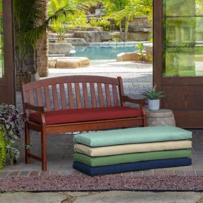 46 in. x 17 in. Ruby Leala Texture Outdoor Bench Cushion