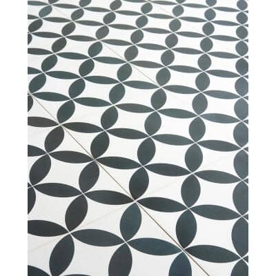 Cavanaugh Deco Black and White 8 in. x 8 in. Matte Porcelain Floor and wall Tile (9 pieces 3.87 Sq. Ft. / Box)