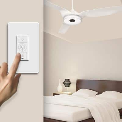 Pioneer Smart Wi-Fi Ceiling Fan Wall Switch (1-Gang), Works with Alexa, Google Home and Siri