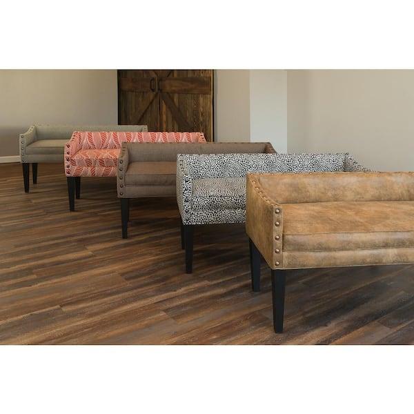 Leffler Home Whitney Upholstered Bench In Portigo Terragon 13000 02 09 01 The Home Depot