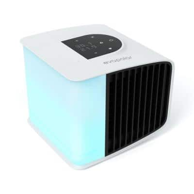 2 evaSmart White 20-Speed Air Volume 47 CFM Portable Evaporative Cooler with Air Humidifier Purifier 45 sq. ft.