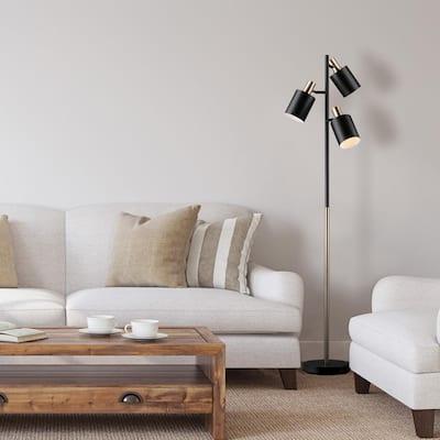 Fiona 67 in. Matte Black Floor Lamp