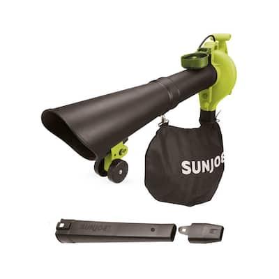 250 MPH 440 CFM 14 Amp Electric Handheld Blower/Vacuum/Mulcher in Green