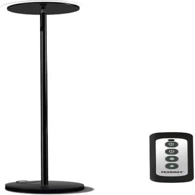 Torchiere 70 in. H 30-Watt Black Dimmable LED Floor Lamp