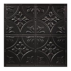 23.75in. X 23.75in. Antique Lay In Vinyl Black Ceiling Panel (Case of 12)