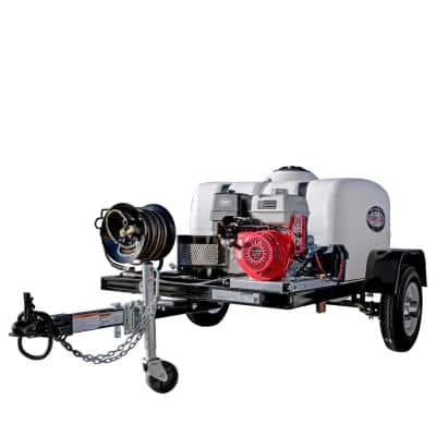 95003 4200 PSI at 4.0 GPM with HONDA GX390 Cold Water Pressure Washer Trailer