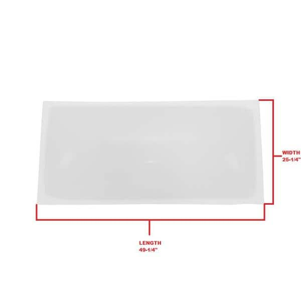 Gordon Skylight Replacement Dome 25 1 4 In X 49 1 4 In Gordon Curb Mount Skylight 2852wordcm The Home Depot