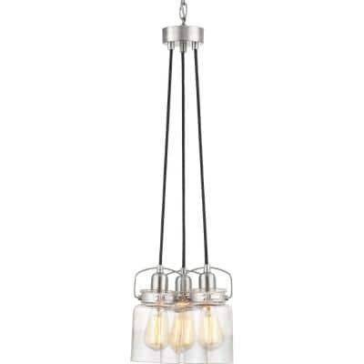 CalhounCollection3-Light Brushed Nickel Chandelier with Shade