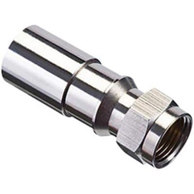 RG6/RG6 Quad Universal Coaxial Compression F-Connector (Pack of 50)