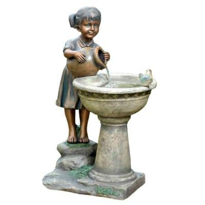 Versando Bird Bath Outdoor Water Fountain