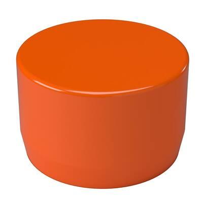 3/4 in. Furniture Grade PVC External Flat End Cap in Orange (10-Pack)