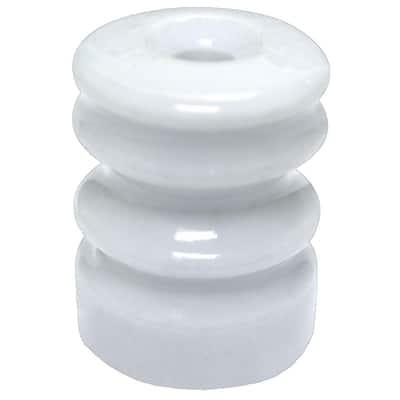Multi-Groove Wood Post Ceramic Insulator