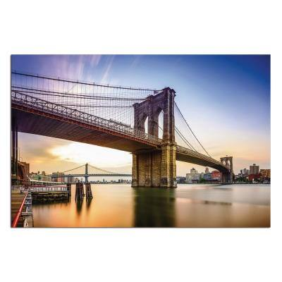 "Oppidan Home ""Brooklyn Bridge"" Acrylic Wall Art 32 in. H x 48 in. W"