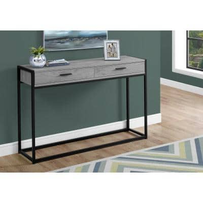 48 in. Gray Standard Rectangle Composite Console Table with Drawers