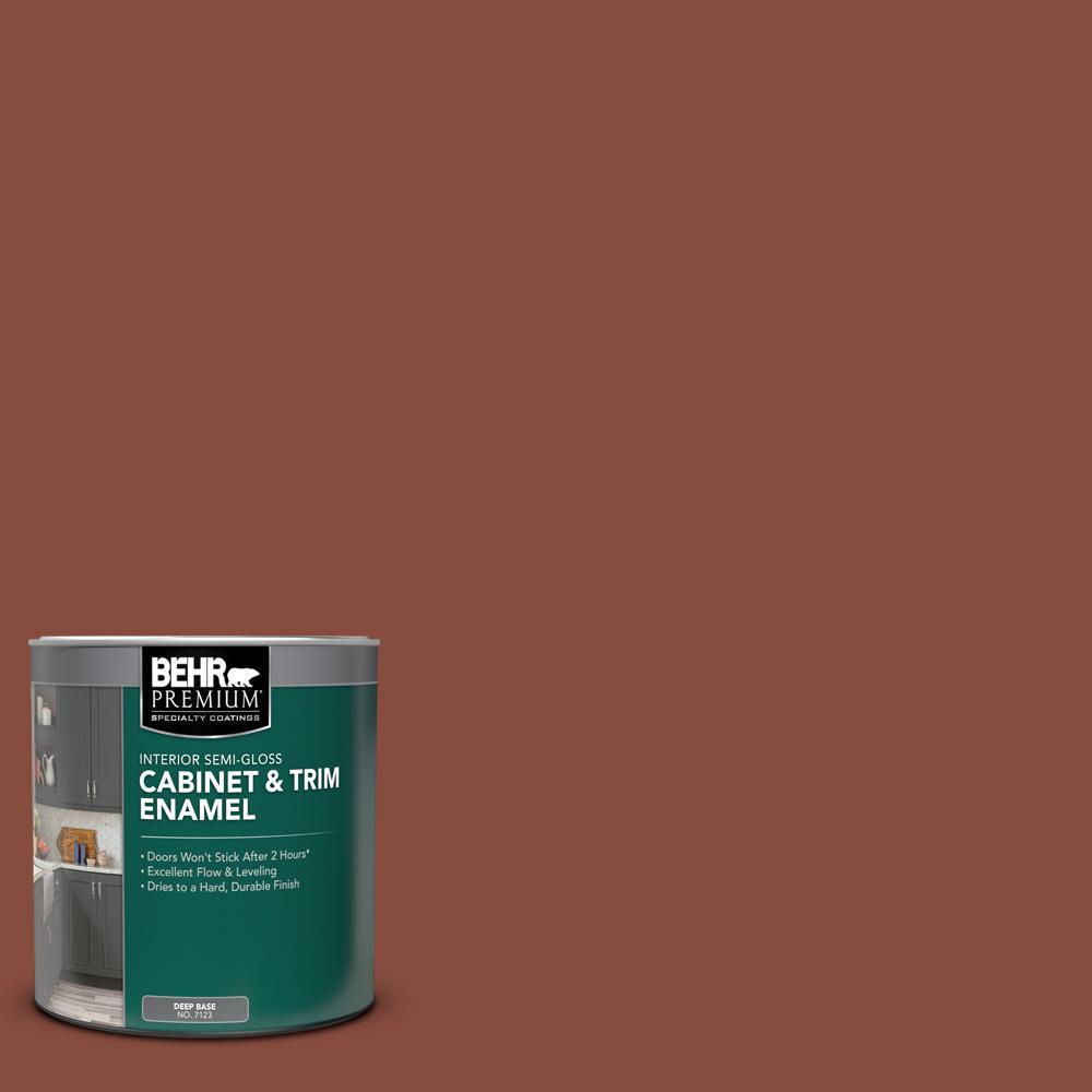 1 qt. #S170-7 Dark Cherry Mocha Semi-Gloss Enamel Interior Cabinet and Trim Paint
