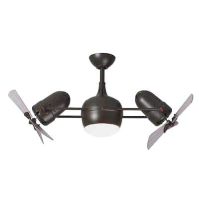 Dagny LK 38 in. Integrated LED Textured Bronze Ceiling Fan with Light Kit