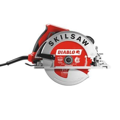 15 Amp Corded Electric 7-1/4 in. Magnesium SIDEWINDER Circular Saw with 24-Tooth Diablo Carbide Blade