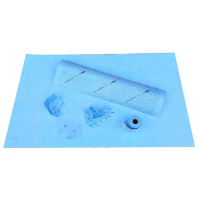 60 in.L x 48 in.W x 96 in.H, 9 pcs. Linear Wall Shower Kit with Shower Wall Membrane and Shower Pan 48x60 in. W/O Drain