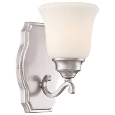 Savannah Row 1 Light Brushed Nickel Bath Light