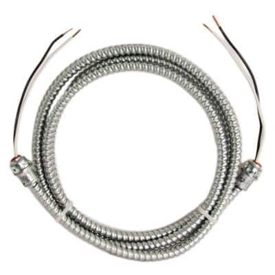 12/2 x 10 ft. Solid CU BX/AC (Duraclad) Armored Steel Cable Whip