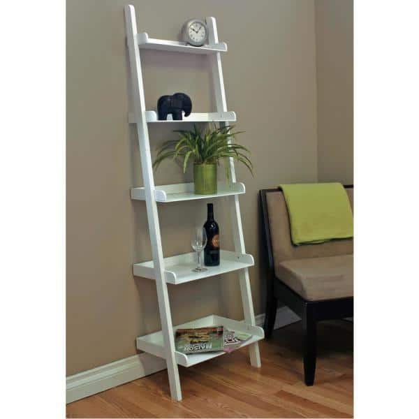 """AZ Home and Gifts - kieragrace Providence Hadfield Leaning Shelf - White, 18"""" by 66"""""""