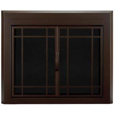 Enfield Large Glass Fireplace Doors