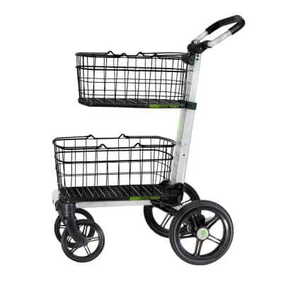 Scout Fold Cart with Removable Baskets, Transport Tray, Swivel-Front and10 in. Rear Wheels, Rubber Tires