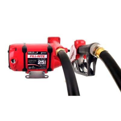 120-Volt 25 GPM 1/3 HP Continuous Duty Fuel Transfer Pump with Standard Accessories (Foot Mounted)
