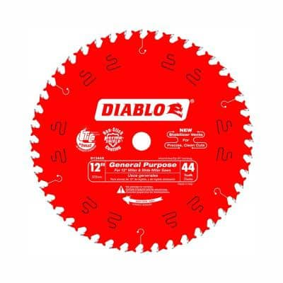 12 in. x 44-Teeth General Purpose Saw Blade