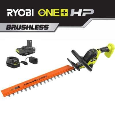 ONE+ 22 in. HP 18V Brushless Lithium-Ion Cordless Battery Hedge Trimmer - 2.0 Ah Battery and Charger Included