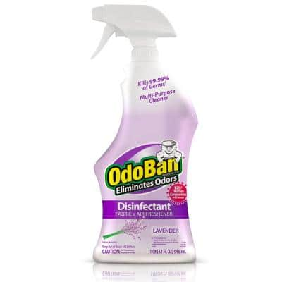 32 oz. Lavender Disinfectant Spray, Odor Eliminator, Sanitizer, Fabric Freshener, Mold Control, Multi-Purpose Cleaner