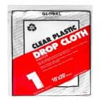 10 ft. x 20 ft. 1mil. Plastic Drop Cloth (24-Pack)