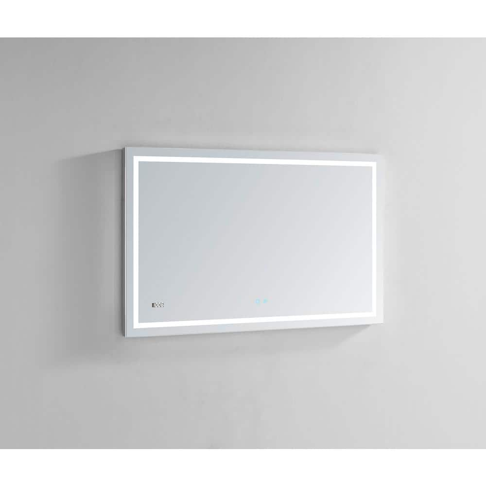 Aquadom Daytona 48 In W X 30 In H Frameless Bathroom Mirror With Led Lighting And Mirror Defogger D 4830 The Home Depot