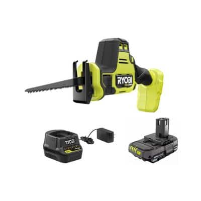 ONE+ HP 18V Brushless Cordless Compact One-Handed Reciprocating Saw Kit with 1.5 Ah Battery and 18V Charger